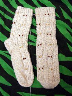 Pletení ponožky sova+návod