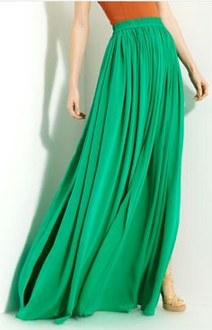 Full length skirt - falda con vuelo larga