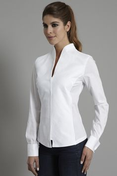 PENELOPE: A devastatingly modern,  sculptural shirt -> http://www.theshirtcompany.com/p313/Contemporary-Pleat-Front-Stand-Collar-Shirt/product_info.html #TheShirtCompany