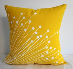 Starburst Yellow Pillow Covers  Decorative Throw by pillows4fun, $26.00