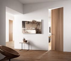 Fabulous Discover all the information about the product Interior door swing wooden flush EXITLYNE ZERO NOCE NATURAL TOUCH FerreroLegno and find where you can