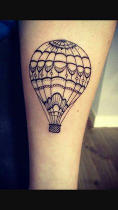 What does hot air balloon tattoo mean? We have hot air balloon tattoo ideas, designs, symbolism and we explain the meaning behind the tattoo. Form Tattoo, Shape Tattoo, Tatoo Art, Tattoo Ink, Piercing Tattoo, Piercings, Hand Tattoos, Love Tattoos, Tatoos