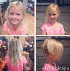 LORALI stacked bob haircut for girls