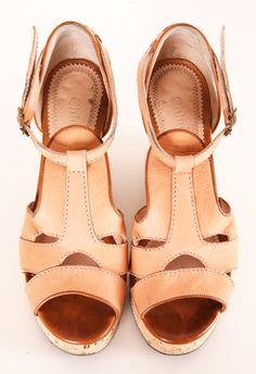 Beige leather sandals - Chloé