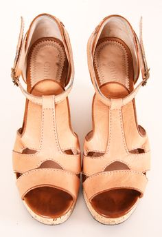 Chloe Blush Leather Sandals