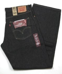 """Mens Levis Loose Straight 569 Special Dye Finish Black Size 36"""" x 34"""" New #Levis #LooseStraight"""