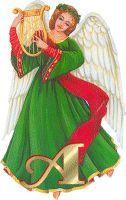 Alfabeto de ángeles vintage.