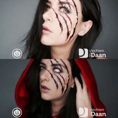 Scary Little Red Riding Hood … – Halloween Costumes Visage Halloween, Soirée Halloween, Table Halloween, Halloween Inspo, Scary Halloween Costumes, Halloween Cosplay, Red Riding Hood Makeup, Red Riding Hood Costume, Scary Makeup