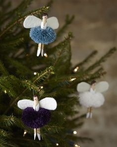 Hand Made Peg Doll Christmas Fairy Decoration. Love these fairy decorations. So simple and cute.