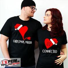 Tricouri pentru Cupluri - Christmas mood Christmas Mood, Diana, T Shirt, Tops, Women, Fashion, Supreme T Shirt, Moda, Tee Shirt