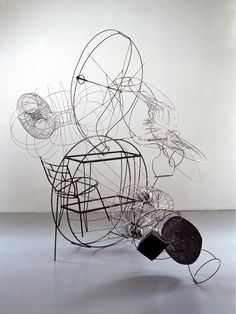 Compulsory figures II, 1991 by Judy Pfaff. There is something magical about her work.
