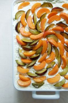 Plum + Apricot Summer Tiramisu Recipe // @nicoledula