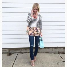 Layered Stripes Sweater #Anthropologie #MyAnthroPhoto