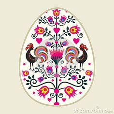 Polish pattern folk  - Easter eggs