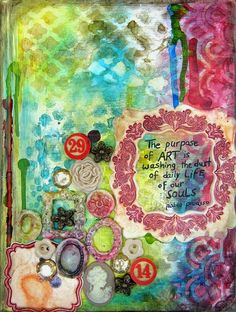 scrappin it: Mixed Media Art Journal Cover