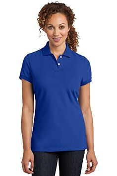 District Made Womens Stretch Pique Polo 3XL Royal * Read more reviews of the product by visiting the link on the image. Note:It is Affiliate Link to Amazon.