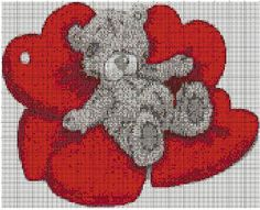 Tatty Teddy con cuore - Tatty Ted with Hearts