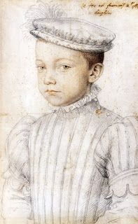 """preparation study for a painted portrait of """"King François II at age twelve"""", François Clouet. Photo: The Metropolitan Museum of Art, NY. Francis II became King of France at age 15 but died a year later. Renaissance Kunst, Renaissance Portraits, L'art Du Portrait, Portrait Sketches, French History, Art History, Metropolitan Museum, François Ii, Hans Holbein The Younger"""