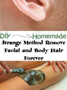 Strange Method Remove Facial Hair Forever