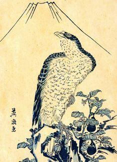 Falcon with eggplant by Keisai Eisen (1790-1848)