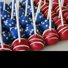 Independence Day cake pops!