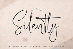Silently (Font) by Vunira · Creative Fabrica Cool Handwriting Fonts, Cursive Fonts, Apple Mac, Linux, Icon Png, Handwritten Text, Branding Materials, Script Logo, Editorial Design