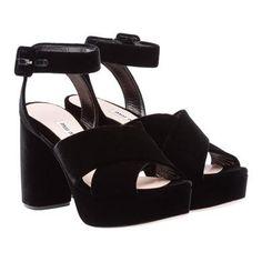 Miu Miu - Sandals - Black - Asia Pacific - 5XP723_3I12_F0002_F_A095