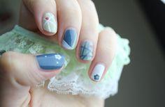 DIY nail art which look gorgeous! Blue Nail Designs, Pretty Nail Designs, Best Nail Art Designs, Toe Fungus Treatment, Nail Art Diy, Cool Nail Art, Manicure Y Pedicure, Gel Nails, Nail Art Designs