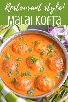 Malai Kofta - This popular Indian recipe creates delicious dumplings, perfect for soaking up all the velvety sauce. The air fryer lightens up the traditionally deep fried dumplings while the Instant Pot makes putting together the curry sauce effortless. #malaikofta #instantpot #vegetarianrecipe #airfryerrecipe #glutenfreerecipe Instant Pot Dinner Recipes, Best Dinner Recipes, Indian Food Recipes, Asian Recipes, Vegetarian Recipes, Cooking Recipes, Healthy Recipes, Ethnic Recipes, Delicious Recipes