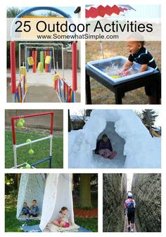 The Great Outdoors- 25 Outside Activities for Kids