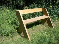 HOW TO - Make a Leopold bench Design by Aldo Leopold. A favorite of mine. One of the greatest ecologist. Perfect for scrap and recycling.