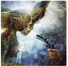 Surreal Digital Art & Illustration by Mario S. Mother Earth, Mother Nature, Digital Art Illustration, Satirical Illustrations, Satirical Cartoons, Fantasy Kunst, Surreal Photos, Surreal Art, Ouvrages D'art