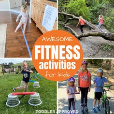 Fitness Themed Activities for Kids - Toddler Approved Physical Activities For Kids, Life Skills Activities, Everyday Activities, Fitness Activities, Fun Activities, Building For Kids, Read Aloud, Easy Workouts, Teaching Kids