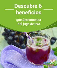 Descubre 6 beneficios que desconocías del jugo de uva Pocas bebidas son tan ricas en antioxidantes, minerales y vitaminas como un jugo de uva natural. No dudes en consumirlo cuando sea la temporada, porque los beneficios que te va a ofrecer son insospechados a la vez que maravillosos.