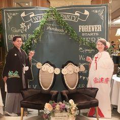 手作りする花嫁さん増加中!ウェルカムスペースに置く【等身大パネル】のデザインがすごい!   marry[マリー] Asian Party, Photo Booth, Wedding Engagement, Dress, Photo Booths, Dresses, Vestidos, Gown, Gowns