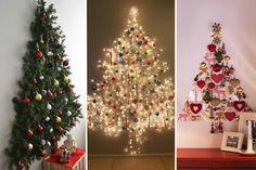 Está querendo fugir do tradicional nesse final de ano? A árvore de Natal na parede pode ser uma opção criativa. Confira fotos para se inspirar!