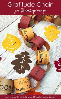 Gratitude Chain-A Printable Thanksgiving Activity for Families   Carla Schauer Designs