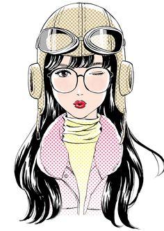 Miyamoto Yoshiko illustrator » アラレちゃんコスプレの女子高生