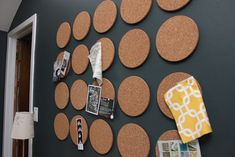 Ikea hot things used as wall cork board Diy Cork Board, Cork Boards, Cork Crafts, Diy And Crafts, Room Deco, Cork Tiles, Wall Tile, Cork Wall, Headboard Decor