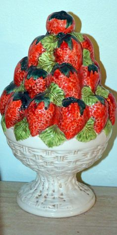 Vintage Decorative Ceramic Bowl of Strawberries  by AmoreDolce, $23.00