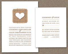 SAMPLE Simply Love  Real Burlap Wedding Invitation by iwedfred, $6.50