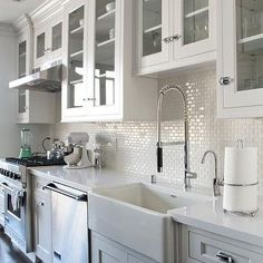 Mini Subway Tiles, Transitional, kitchen