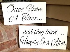 Weddings signs Once Upon A Time Happily Ever by SignSimplicity, $36.95