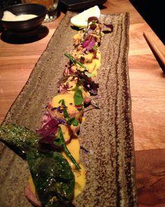 Wagyu tataki with truflle sauce.  #foodart #gastroart #theartofplating #gastronomia #gourmandise #japanese #tataki #cheflife #gastromonie #athens #nikkei #foodpics  #sushilove #wagyu #foodstagram #greece  #gastropost #foodgasm #foodiechats #beef #sushinight #greece  #gastropost #sushiporn #foodstyling #foodtrend #vscofood #foodlover #finedining #psychiko by tasos_mitselis