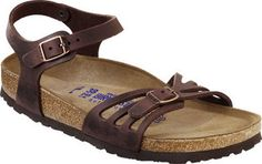 Women's Birkenstock Bali Soft Footbed - Habana Oiled Leather Casual Shoes
