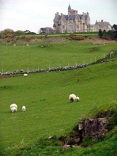 Glengorm Castle. Isle of Mull, Scotland.