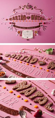 Custom edible typography by André Brandão. Can't read any of it but looks amazing.