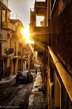 Streets of San Giuseppe Jato, Palermo, Sicily, Italy