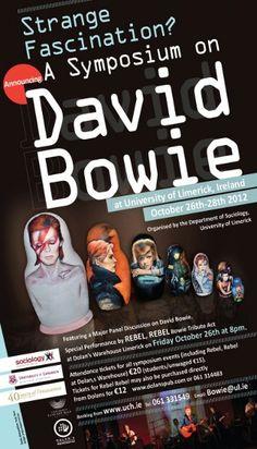 Nem David Bowie esperava por essa. Ainda na onda das celebrações dos 40 anos de lançamento do single Changes, o Departamento de Sociologia, da Universidade de Limerick, na Irlanda, vai homenagear o cantor e compositor inglês com um simpósio...