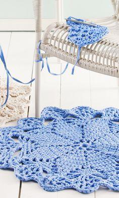 Tee virkattu pitsimatto | Meillä kotona Merino Wool Blanket, Rugs, Knitting, Diy, Crocheting, Google, Buen Dia, Trapillo, Farmhouse Rugs